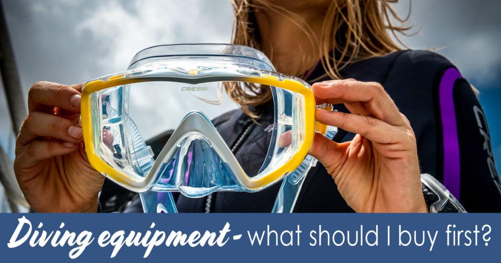 Diving equipment - what should I buy first EN